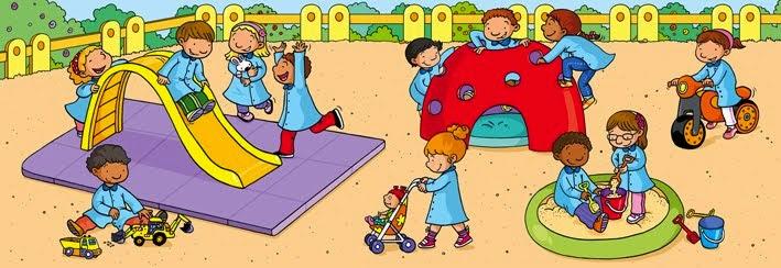Resultado de imagen de dibujos jugando en patios