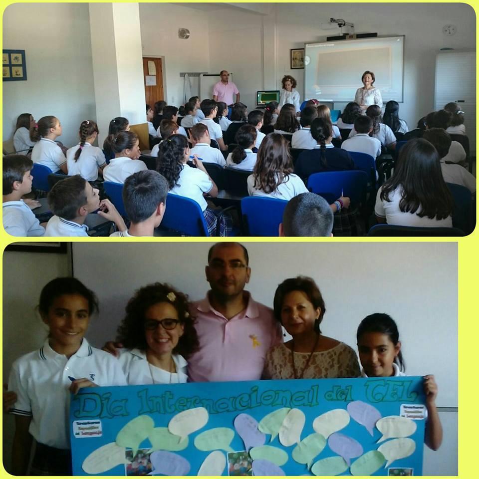Alumnos del colegio Santa Teresa en el día del TEL
